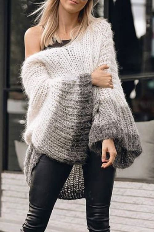 Wow !!! i love this Loose Sweater with huge belled sleeves