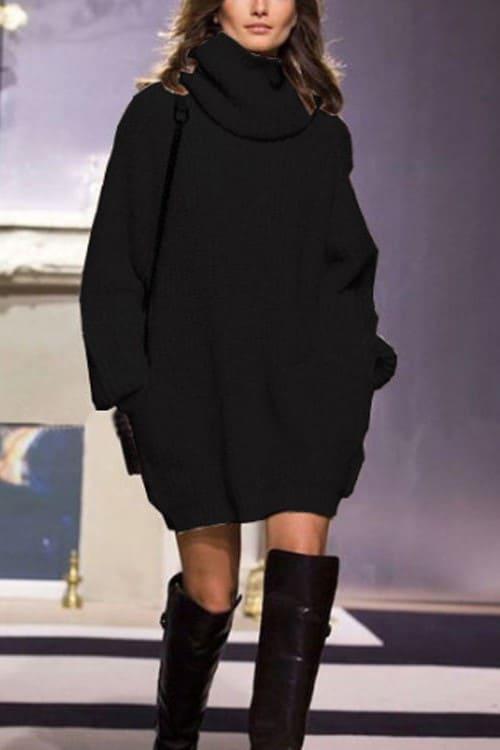 XXL Black TurtleNeck Sweater