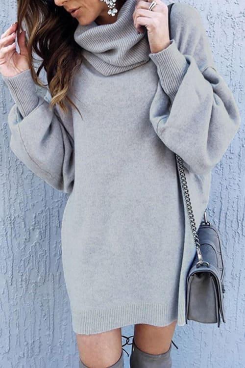 XXL Grey TurtleNeck Sweater