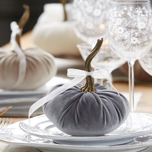 halloween decorations, Velvet Pumpkins, Fall decoration, table centerpiece