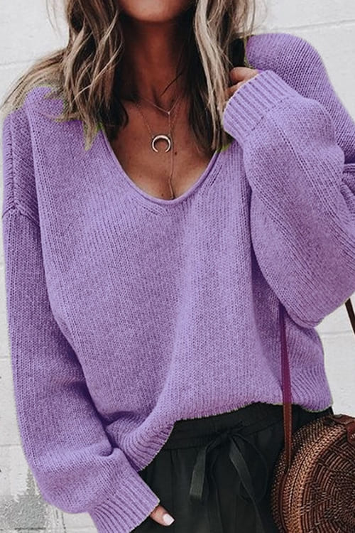 lilac loose oversize sweater