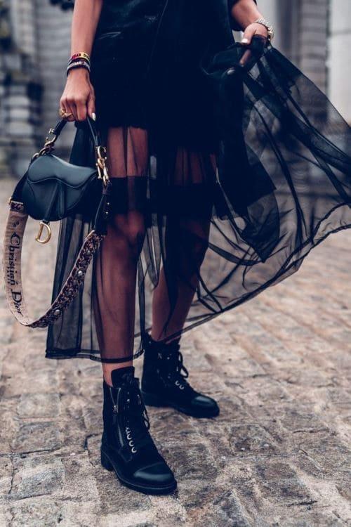boholux tull maxi skirt