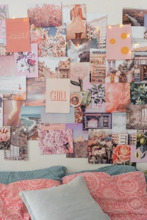 Peachy Pink Collage Kit