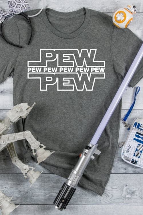 Pew Pew Pew Light Saber Star Wars Vacation Shirt Fast Shipping Family Matching Shirts Adult and Youth