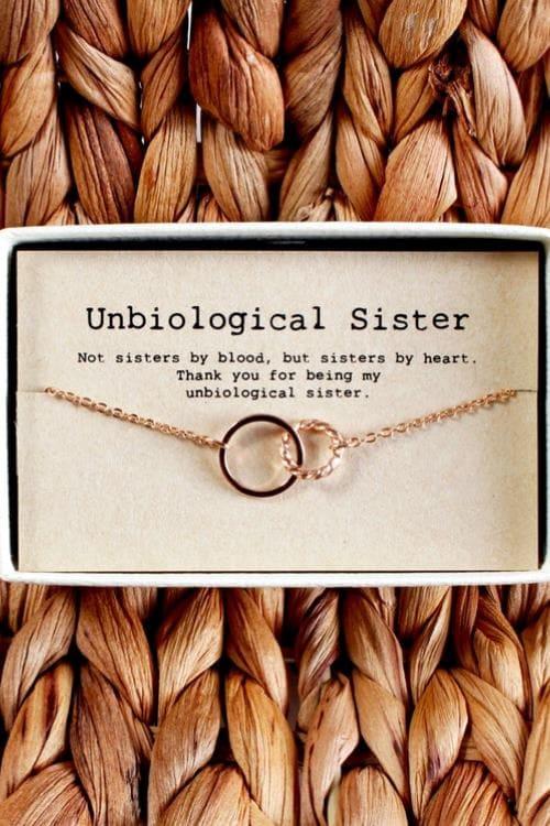 Unbiological sister necklace • Soul Sister