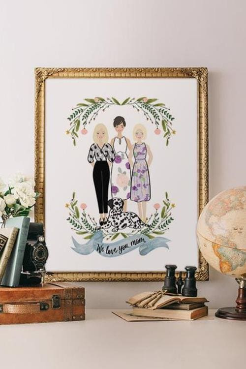 personalized portrait we love you mom