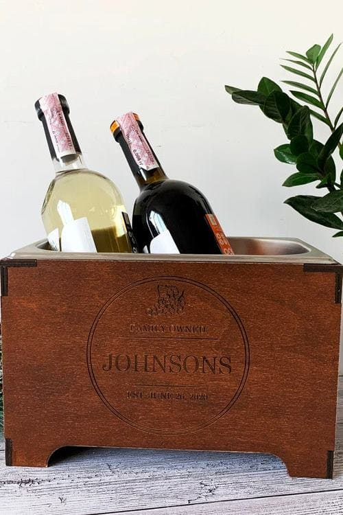 Custom wine cooler Personalized wine chiller Gift for wine lovers Wine accessories and gifts Unique interior decoration