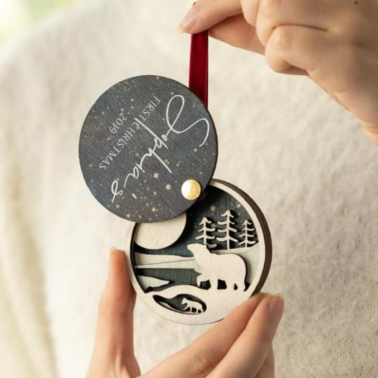 Personalised 3D Luxury First Christmas Bauble