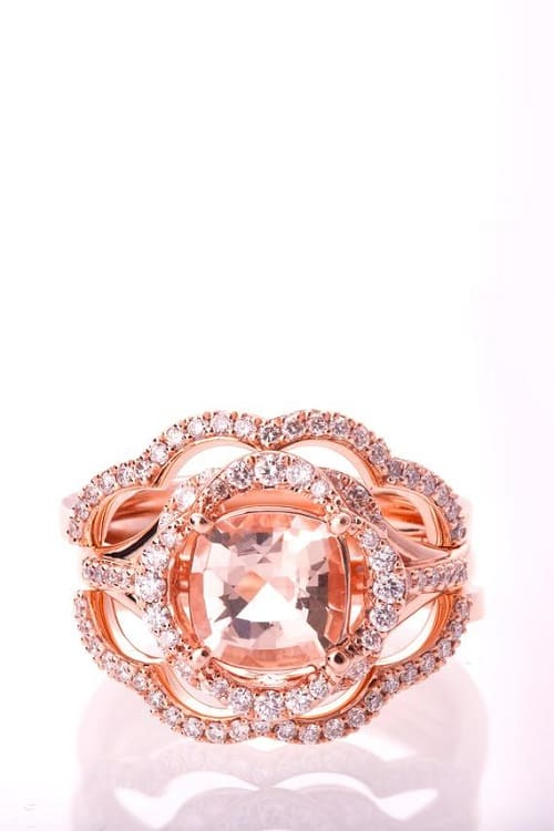 Gorgeous Morganite Engagement Set!