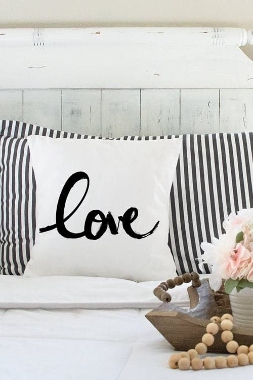 Love Pillow, Boho Chic Cushion