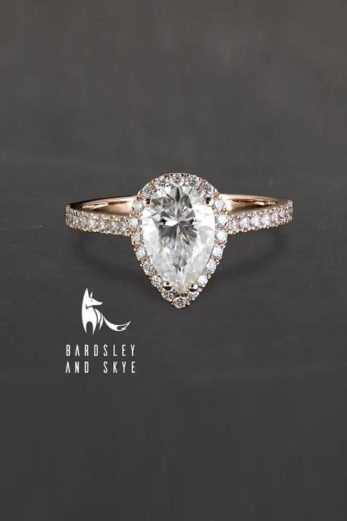 Lovely Moissanite Engagement Ring!
