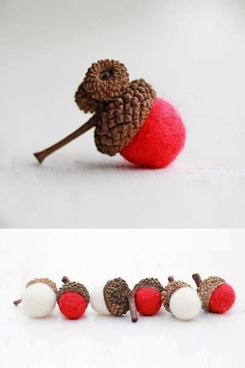 Wool Felted Acorns
