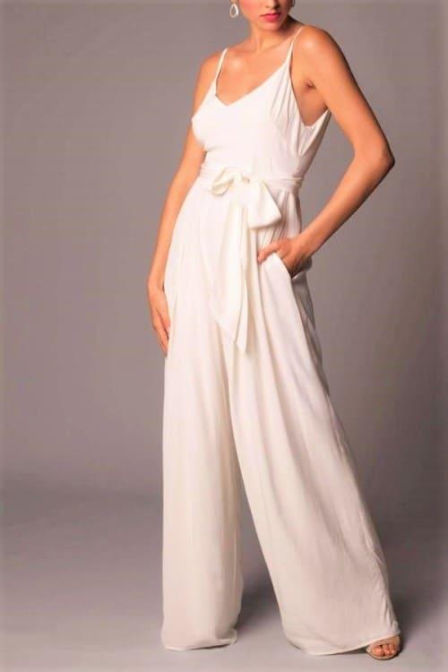 Bohemian & Modern Lightweight Bridal Jumpsuit