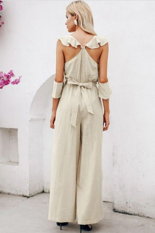 Boho Luxe Belted Jumpsuit
