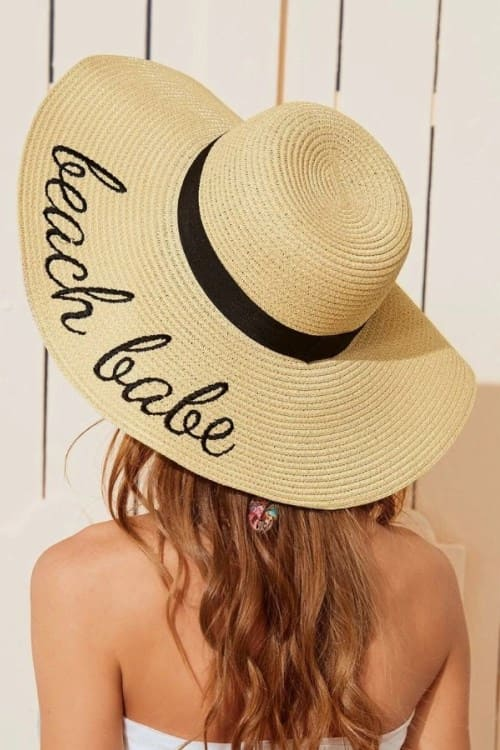 Embroidery Straw Hat