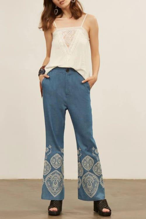 Bohemian flared pants