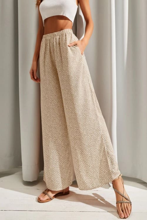 Boho chic flared pants