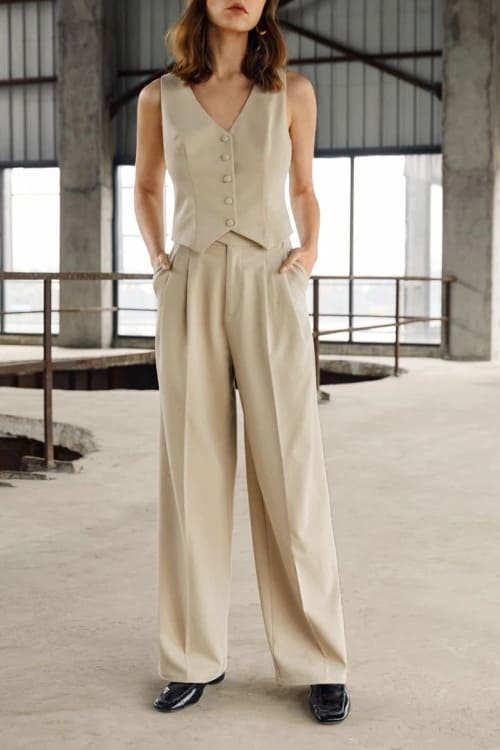 Boho chic high waisted flared pants