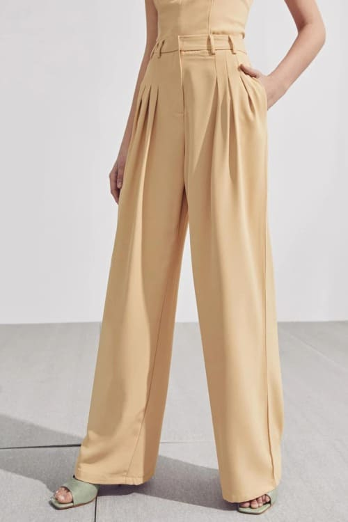 Chic high waisted flared pants